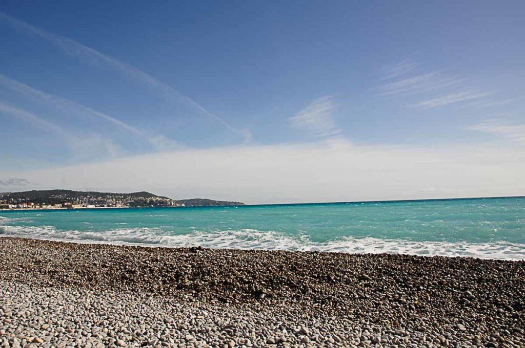 Ein Tag in Nizza: Strand
