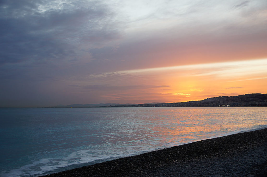 Ein Tag in Nizza: Sonnenuntergang